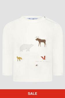 Tartine et Chocolat Baby Boys White T-Shirt