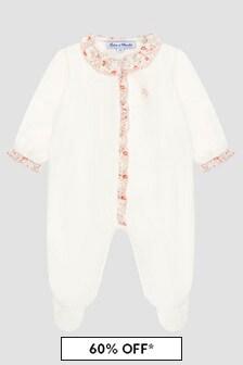 Tartine et Chocolat Baby Girls White Sleepsuit
