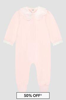 Tartine et Chocolat Baby Girls Pink Sleepsuit