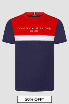 Tommy Hilfiger Boys Navy T-Shirt