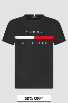 Tommy Hilfiger Boys Black T-Shirt