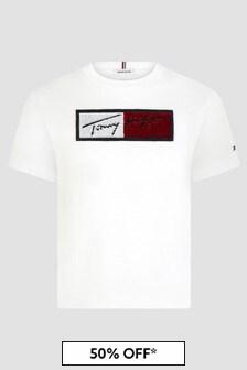 Tommy Hilfiger Girls White T-Shirt