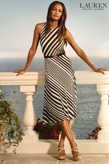 Lauren Ralph Lauren Navy Stripe Felia Dress
