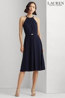 Lauren Ralph Lauren Blue Floral Felia Dress