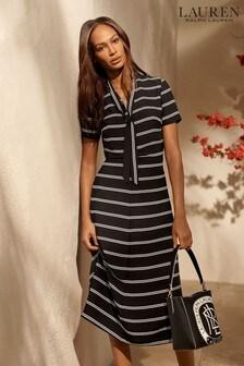 Lauren Ralph Lauren Black Stripe Laurence Dress