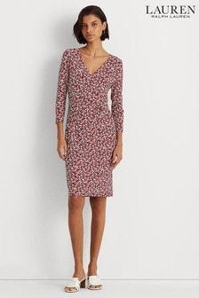 Lauren Ralph Lauren Red Cleora Print Dress