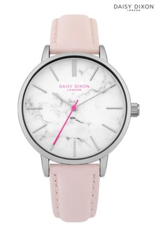 Daisy Dixon Pink Strap Watch With Marble Print Dial