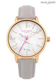 Daisy Dixon Grey Strap Watch With Marble Print Dial
