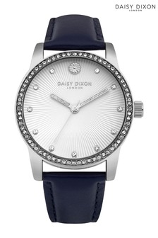 Daisy Dixon Navy Strap Watch With White Dial