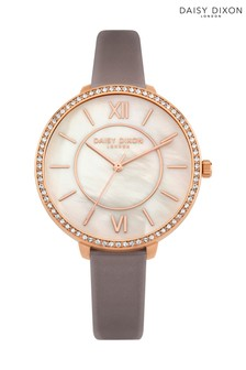 Daisy Dixon Grey Strap Watch With Mother Of Pearl Dial