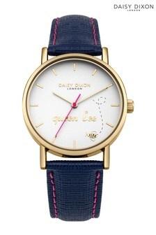 Daisy Dixon Blaire Navy Saffiano Strap Watch
