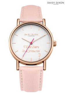 Daisy Dixon Blaire Pink Leather Strap Watch With White Dial