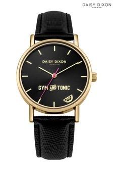 Daisy Dixon Black Strap Watch With Slogan Statement Dial