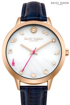 Daisy Dixon Navy Watch With Mother Of Pearl Dial