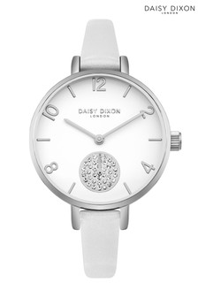 Daisy Dixon Alice White Skinny Strap Watch With White Dial