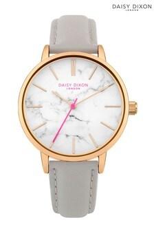 Daisy Dixon Silver Metallic Strap Watch With White Dial