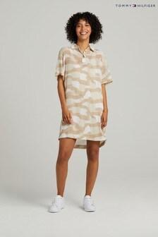 Tommy Hilfiger Natural Icon Chiffon Polo Dress