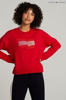 Tommy Hilfiger Red Icon Crew Neck Sweatshirt