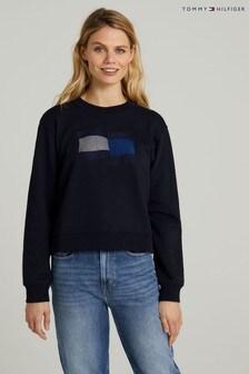 Tommy Hilfiger Blue Icon Crew Neck Sweatshirt