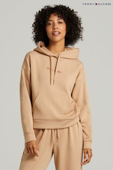 Tommy Hilfiger Camel Relaxed Grossgrain Hoodie