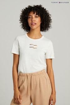 Tommy Hilfiger White Slim Icon T-Shirt