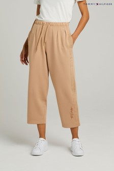 Tommy Hilfiger Camel Relaxed Grossgrain Long Pants