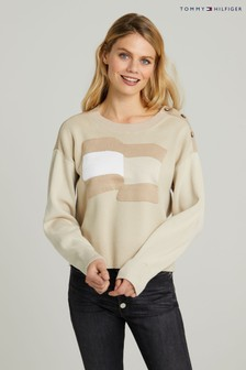 Tommy Hilfiger Camel Icon Flag Sweater