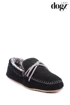 Lazy Dogz Black Benson Slippers