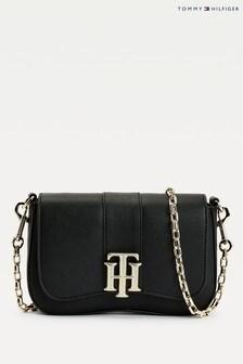 Tommy Hilfiger Black Th Lock Cross-Body Bag