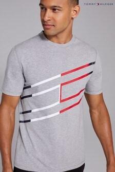 Tommy Hilfiger Grey Graphic Cotton T-Shirt