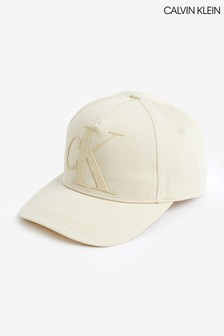 Calvin Klein Cream Monogram Cap