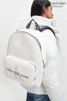 Calvin Klein White Campus Backpack