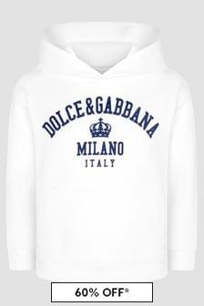 Dolce & Gabbana Kids Boys White Hoodie