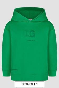 Dolce & Gabbana Kids Boys Green Hoodie