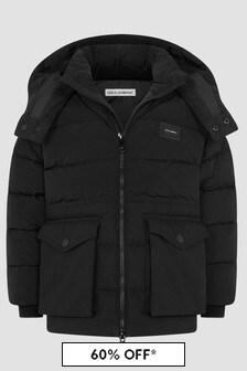 Dolce & Gabbana Kids Boys Black Jacket