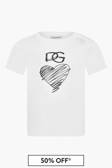 Dolce & Gabbana Kids Baby Girls White T-Shirt