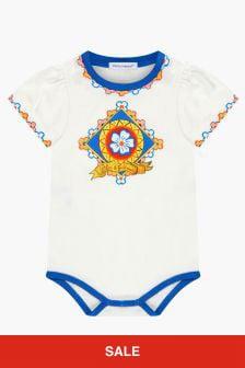 Dolce & Gabbana Kids White Rompersuit