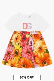 Dolce & Gabbana Kids Baby Girls Floral Multicoloured Dress