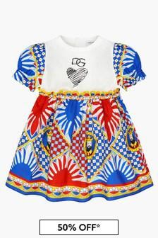 Dolce & Gabbana Kids Baby Girls Blue Dress