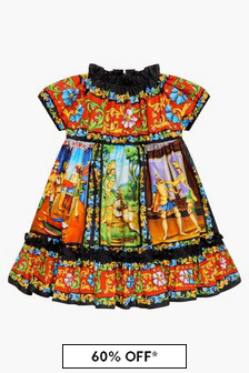 Dolce & Gabbana Kids Baby Girls Red Dress