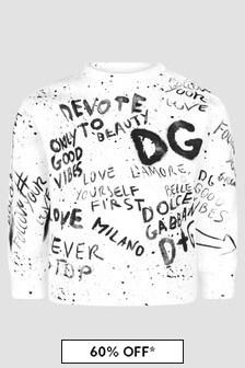 Dolce & Gabbana Kids Baby Boys White Sweat Top