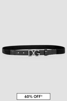 Dolce & Gabbana Kids Boys Black Belt