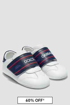 Dolce & Gabbana Kids Baby Boys White Trainers