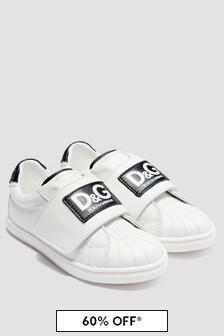 Dolce & Gabbana Kids Boys White Trainers
