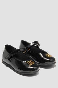 Dolce & Gabbana Kids Baby Girls Black Pumps
