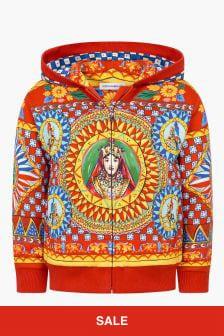 Dolce & Gabbana Kids Girls Red Sweat Top