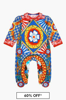 Dolce & Gabbana Kids Baby Girls Multi Sleepsuit