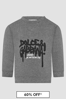Dolce & Gabbana Kids Baby Boys Grey Sweat Top