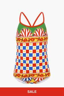 Dolce & Gabbana Kids Girls Multi Swimsuit