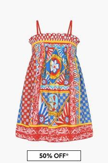 Dolce & Gabbana Kids Girls Red Dress